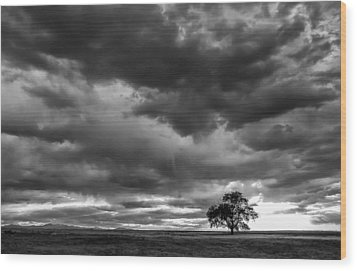 Storms Clouds Passing Wood Print by Monte Stevens