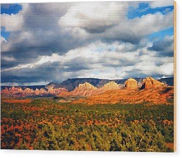 Stormwatch Arizona Wood Print by Kurt Van Wagner