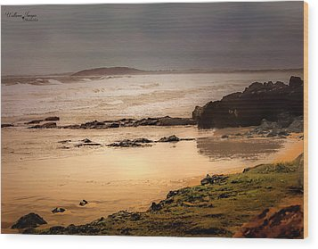 Wood Print featuring the photograph Stormy Day At Gallows Beach by Wallaroo Images