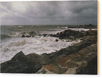 Wood Print featuring the photograph Stormy Day by John Scates