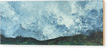 Wood Print featuring the painting Stormy by Jane Autry