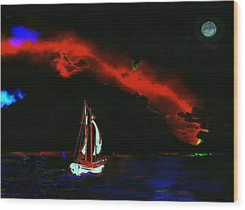 Stormy Night Wood Print by Mimo Krouzian