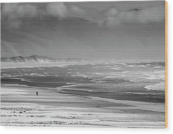Stormy Oceanside Oregon Wood Print