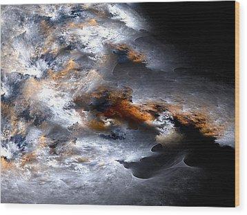 Stormy Seas Wood Print by Amorina Ashton