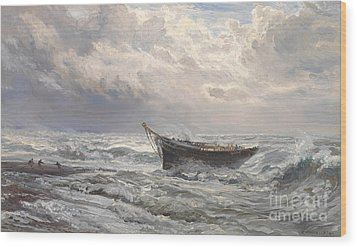 Stormy Seas Wood Print by Henry Moore