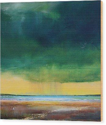 Stormy Seas Wood Print by Toni Grote