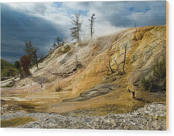 Stormy Skies At Mammoth Wood Print by Steve Stuller
