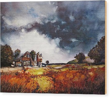 Stormy Skies Wood Print by Geni Gorani