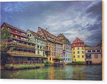 Stormy Skies In Strasbourg Wood Print by Carol Japp