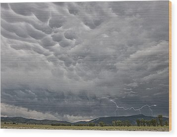 Wood Print featuring the photograph Stormy Skies In Wyoming by Sandra Bronstein