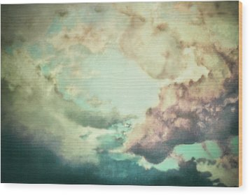 Stormy Sky Wood Print by AugenWerk Susann Serfezi