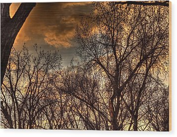 Stormy Sunset 14151 Wood Print