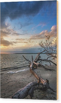 Wood Print featuring the photograph Stormy Sunset by Marvin Spates