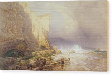 Stormy Weather Wood Print by John Mogford