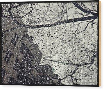 Stormy Weather Wood Print by Sarah Loft