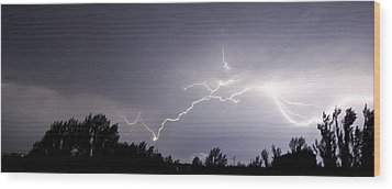 Stormy Weather Wood Print by Svetlana Sewell