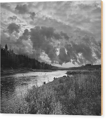 Wood Print featuring the photograph Stormy Weather by Vladimir Kholostykh