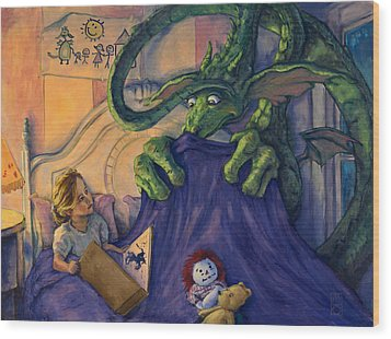 Story Time Wood Print by Michael Orwick