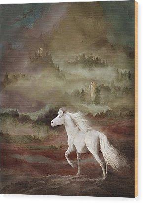 Storybook Stallion Wood Print