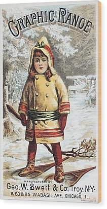 Stove Trade Card, C1890 Wood Print by Granger