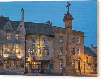 Wood Print featuring the photograph Stow On The Wold - Twilight by Brian Jannsen