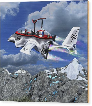 Stowing The Lift Wood Print by Dave Luebbert