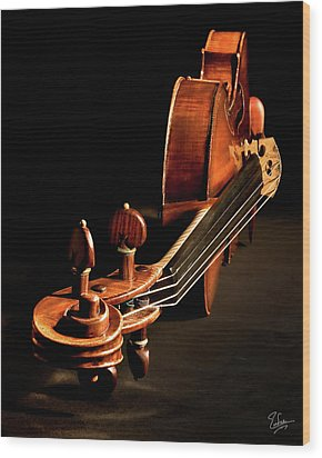 Stradivarius From The Top Wood Print