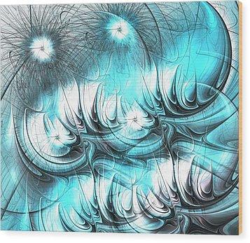 Wood Print featuring the digital art Strange Things by Anastasiya Malakhova