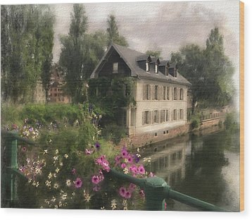 Strasbourg Bridge Wood Print