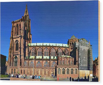 Strasbourg Catheral Wood Print by Alan Toepfer