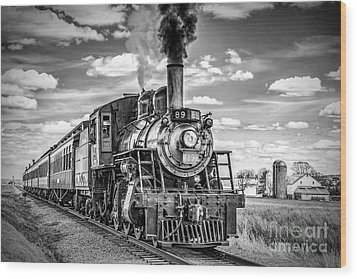 Wood Print featuring the photograph Strasburg Canadian National 89 by Nick Zelinsky