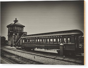 Strasburg Rail Road Wood Print by Bill Cannon