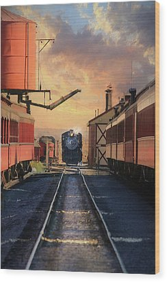 Wood Print featuring the photograph Strasburg Railroad Station by Lori Deiter