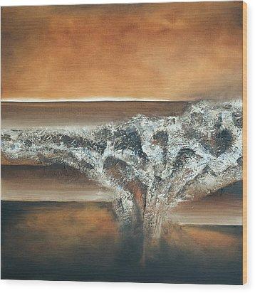 Strata Wood Print by Mike Irwin