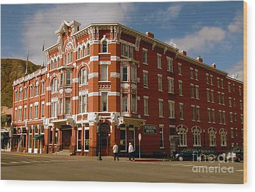 Strater Hotel 1887 Wood Print by David Lee Thompson