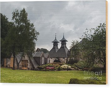 Wood Print featuring the photograph Strathisla Whisky Distillery Scotland #3 by Jan Bickerton