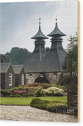 Strathisla Whisky Distillery Scotland Wood Print