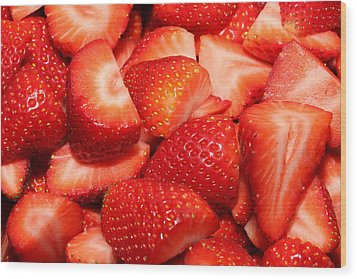 Strawberries 32 Wood Print