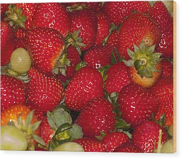 Strawberries 731 Wood Print