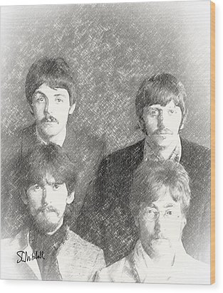 Strawberry Beatles  Wood Print
