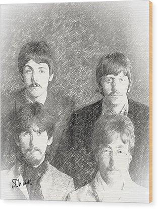 Strawberry Beatles  Wood Print