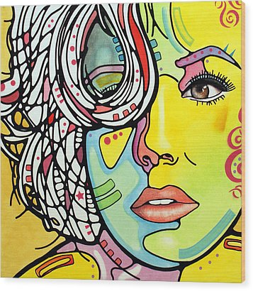 Strawberry Blonde Wood Print by Dean Russo