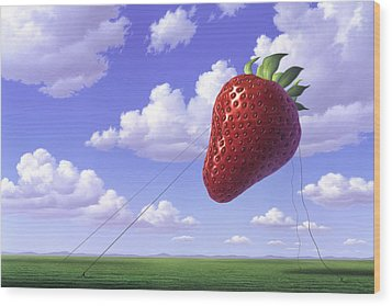 Strawberry Field Wood Print by Jerry LoFaro