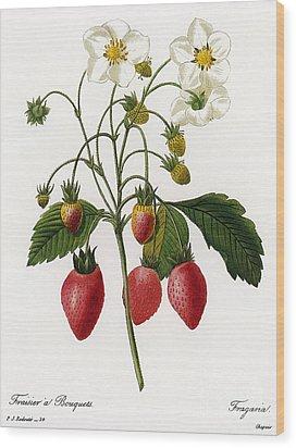 Strawberry Wood Print by Granger