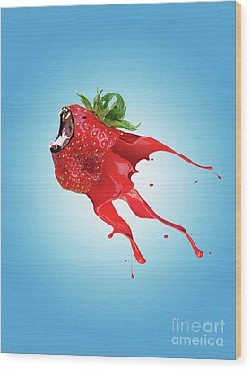 Wood Print featuring the photograph Strawberry by Juli Scalzi