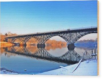 Strawberry Mansion Bridge  Wood Print by Bill Cannon
