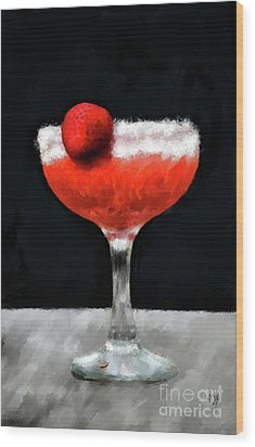 Wood Print featuring the photograph Strawberry Margarita by Lois Bryan
