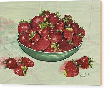 Strawberry Memories Wood Print by Mary Ann King