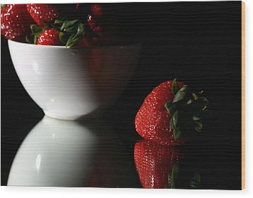 Strawberry Wood Print by Michael Ledray