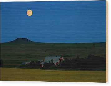 Strawberry Moon Wood Print